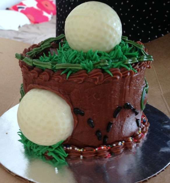 Decided to add a bouncing ball on the side of the cake
